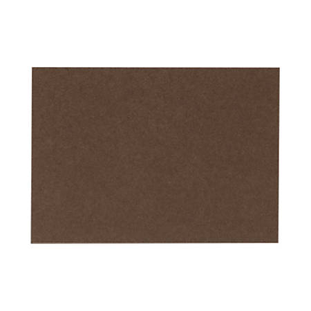 """LUX Flat Cards, A6, 4 5/8"""" x 6 1/4"""", Chocolate Brown, Pack Of 250"""