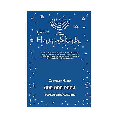 Single-Sided Flyers, Blue Candles, Vertical
