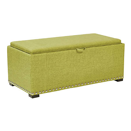 Ave Six Florence Bench With 2 Cubes, Basil/Coffee/Silver