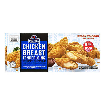 Pilgrim's Chicken Breast Tenderloins, 5-Lb Box