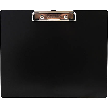 "Saunders Landscape Aluminum Clipboard - 8 1/2"" x 11"" - Low-profile - Aluminum - Black - 1 Each"
