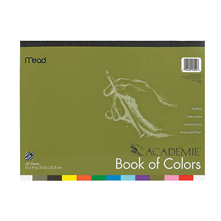 """Mead® Academie® Book Of Colors, 9"""" x 12"""", Assorted Colors, Pack Of 48 Sheets"""