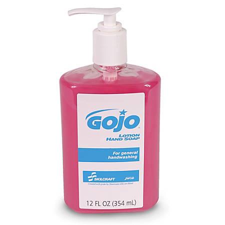 GOJO® Lotion Hand Soap, 12 Oz, Box Of 12 (AbilityOne 8520-01-522-0839)