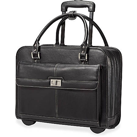 """Samsonite Ladies Business Carrying Case (Briefcase) for 15.6"""" Notebook - Black, Mulberry - Polyester - Handle - 12.8"""" Height x 16.5"""" Width x 6"""" Depth"""