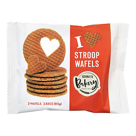 Gerrit's Bakery Stroopwafels, 2.82 Oz, 2 Cookies Per Pouch, Pack Of 16 Pouches