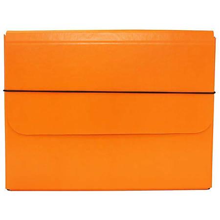 """JAM Paper® Strong Kraft Portfolio With Elastic Closure, 10"""" x 13 1/4"""", Orange"""