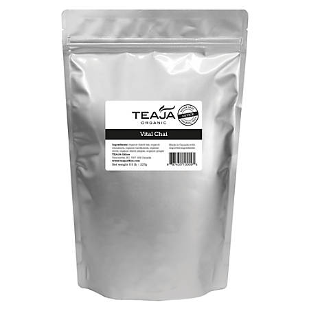 Teaja Organic Loose-Leaf Tea, Vital Chai, 8 Oz Bag