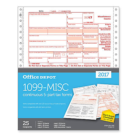 1099 Tax Business Forms Office Depot Officemax