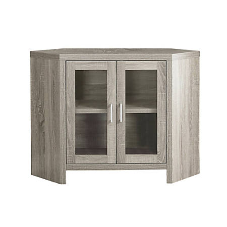 """Monarch Specialties Madelyn TV Stand, 30""""H x 42""""W x 15-1/2""""D, Dark Taupe"""