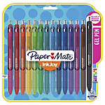 Paper Mate® InkJoy Retractable Gel Pens, Fine Point, 0.5 mm, Assorted Colors, Pack Of 14 Pens