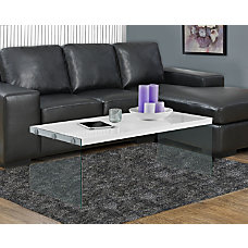 Monarch Specialties Coffee Table With Glass