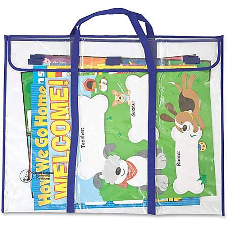 "Carson-Dellosa Bulletin Board/Pocket Chart Storage Bag - 30"" Width x 24"" Length - Clear - Vinyl - 1Each - Multipurpose"