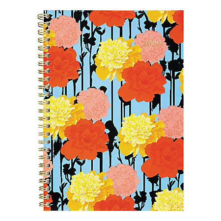 """Cambridge® Marcella Weekly/Monthly Planner, 5-1/2"""" x 8-1/2"""", Floral, January 2020 To December 2021, 1293-200"""