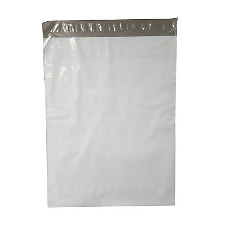 "Suburban Industrial Packaging Specimen Bags, 15"" x 11"", White, Pack Of 100"