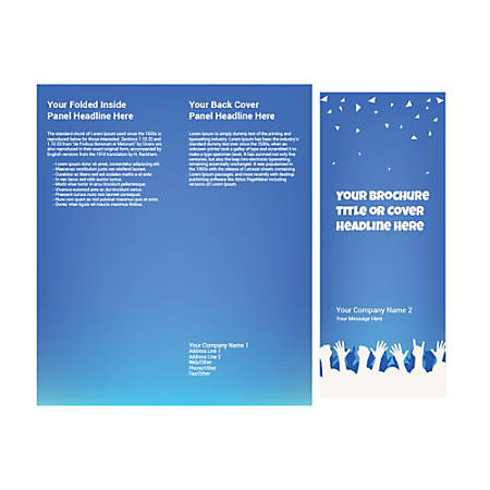Customizable Trifold Brochure, Party Hands