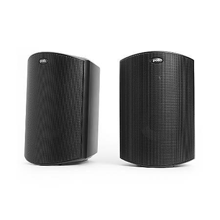 Polk Audio Atrium6 All-Weather Outdoor Speakers, Black, Pair, ATRIUM6BK