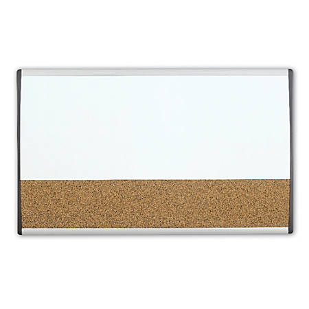 "Quartet® ARC™ Magnetic Combination Dry-Erase/Cork Cubicle Board, 30"" x 18"""