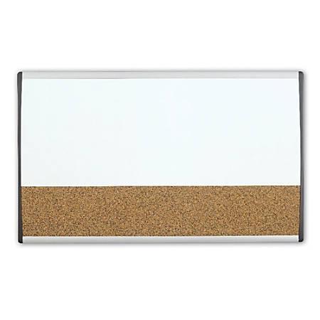 """Quartet® ARC™ Magnetic Combination Dry-Erase/Cork Cubicle Board, 30"""" x 18"""""""