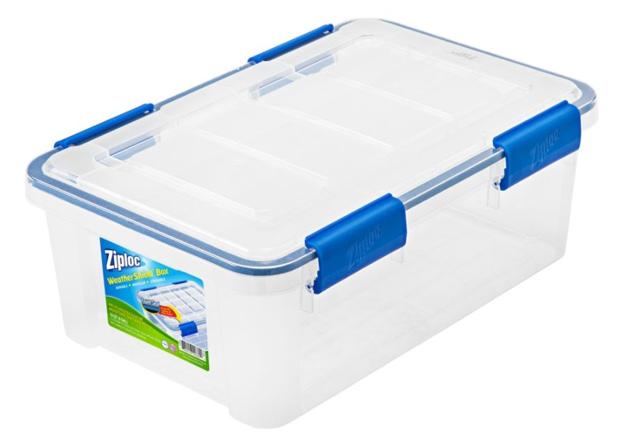 Ziploc Weathertight Storage Box 16 Quart 6 710 H x 11 45 W x 17 25 D