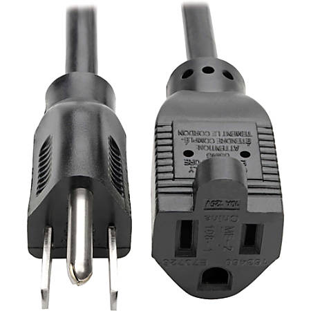"""Tripp Lite 15ft Power Cord Extension Cable 5-15P to 5-15R 10A 18AWG 15' - 10A, 18AWG (NEMA 5-15P to NEMA 5-15R) 15-ft."""""""