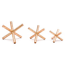 Zuo Modern Asterix Sculptures Copper Set