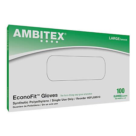 Tradex International Cotton/Polymer Gloves, Medium, Clear, Box Of 100