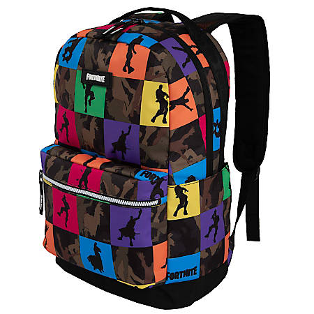 "Fortnite Multiplayer Backpack With 15"" Laptop Pocket, Camo"