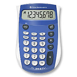 Texas Instruments TI 503SV Display Calculator