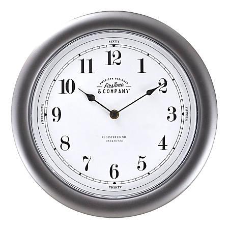 FirsTime & Co.® Homestyle Wall Clock, Dark Metallic Gray