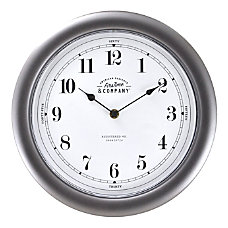 FirsTime Co Homestyle Wall Clock Dark