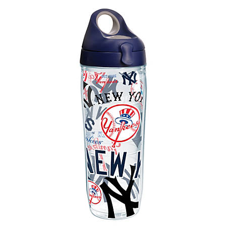 Tervis MLB All-Over Water Bottle With Lid, 24 Oz, New York Yankees