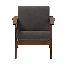 Baxton Studio Elena Fabric Lounge Chair