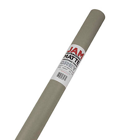 JAM Paper® Wrapping Paper, Matte, 25 Sq Ft, Slate Gray