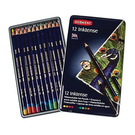 Derwent Inktense Pencil Set, Assorted Colors, Set Of 12 Pencils
