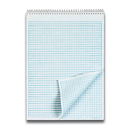 "TOPS™ Docket® Wirebound Quadrille Pad, 8 1/2"" x 11"", 35 Sheets, White"