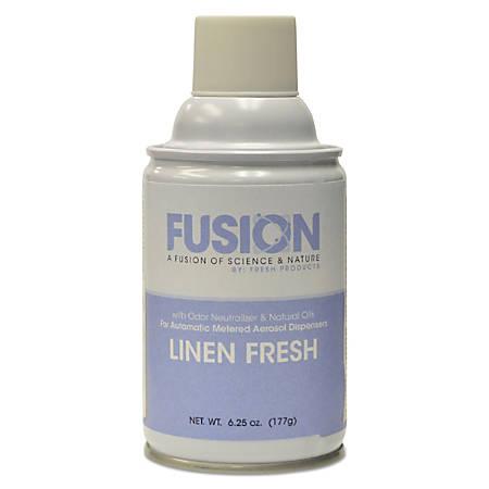 Fresh Products Fusion Metered Aerosols, Linen Fresh Scent, 6.25 Oz, Pack Of 12 Aerosols