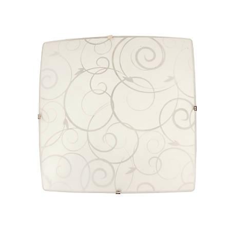 Simple Designs Flush-Mount Indoor Ceiling Light, 60W, Square, White