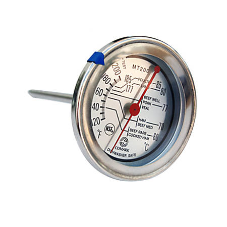 """Comark Meat Thermometer, 2 3/4"""" Dial, Silver"""