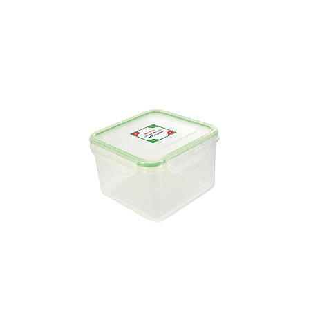 Kinetic Fresh Food Storage Container, 31 Oz, Clear/Green