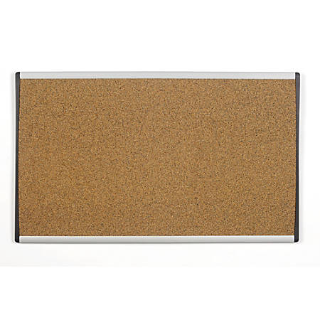 "Quartet® ARC™ Colored Cork Cubicle Bulletin Board, 18"" x 30"", Aluminum Frame"
