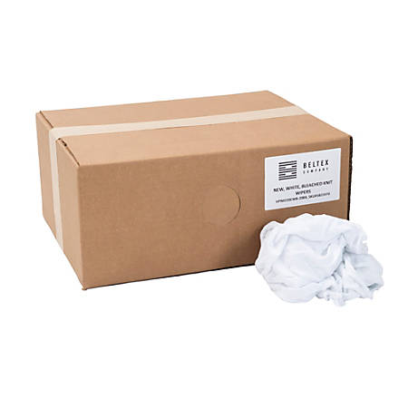 Beltex Reusable New, White, Bleached Knit 20 pound box