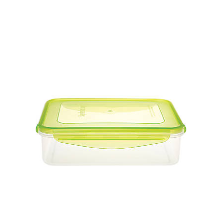 Kinetic Fresh Food Storage Container, 54 Oz, Clear/Green