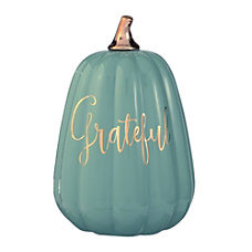 Amscan Ceramic Grateful Pumpkin Figurine 9