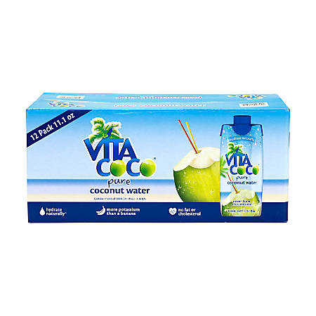 Vita Coco Coconut Water, 11.1 Oz, Pack Of 12 Bottles