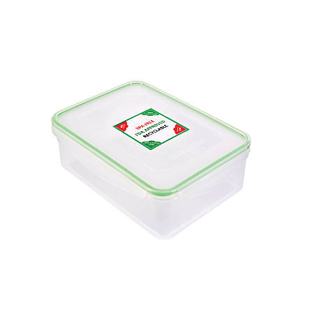 Kinetic Fresh Food Storage Container, 91 Oz, Clear/Green