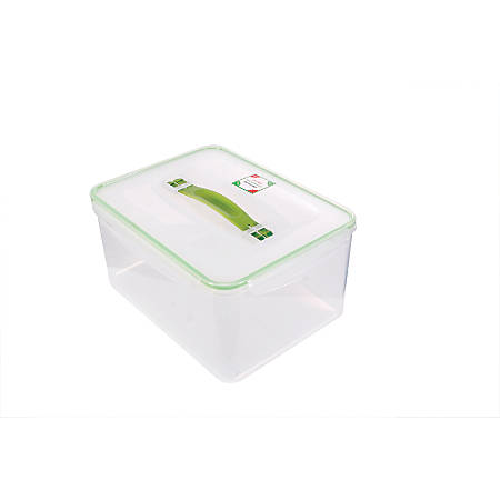 Kinetic Fresh Food Storage Container, 237 Oz, Clear/Green