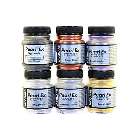Jacquard Pearl Ex Powdered Pigments, Assorted, Set Of 6