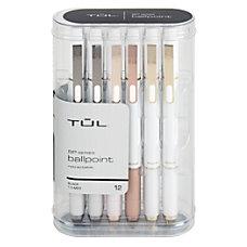 TUL BP3 Retractable Ballpoint Pens Medium