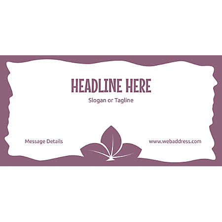 Custom Horizontal Banner, Purple Leaves