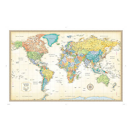 Rand McNally Classic World Wall Map by fice Depot & ficeMax